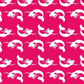 Mermaid Swimming Hot Pink