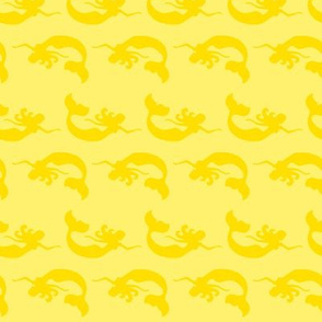 mermaid_swimming Tonal Yellow