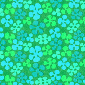 Small aloha flowers green