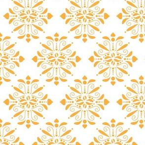 orange damask