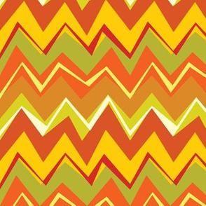 wonky chevron orange