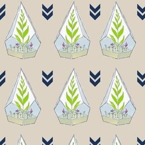 Terrariums in Neutral by Debbie Porter