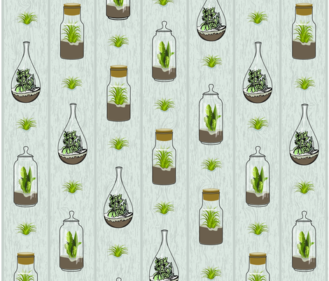 terrarium_woodgrain fabric by gritgirl on Spoonflower - custom fabric