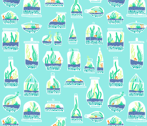 Tiny Green Worlds fabric by emilybluestar on Spoonflower - custom fabric