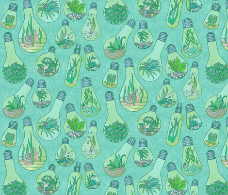Lightbulb Terrariums fabric by elramsay on Spoonflower - custom fabric
