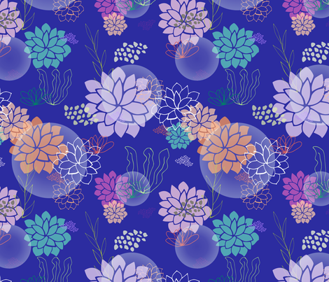 terrarium bubbles fabric by radianthomestudio on Spoonflower - custom fabric