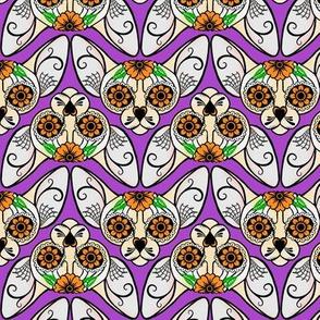 Purple Sugar Skull Sphynx Cat