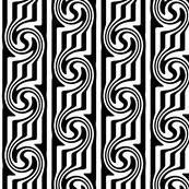 Op Art Swirl Black & White