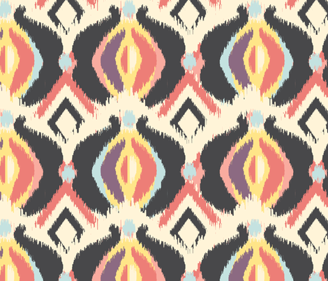 Bohemian Ikat 2 fabric by bohemiangypsyjane on Spoonflower - custom fabric
