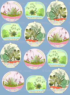 Mock Applique Terrariums