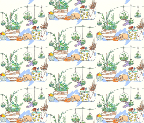 Garden Shop fabric by krussimages on Spoonflower - custom fabric
