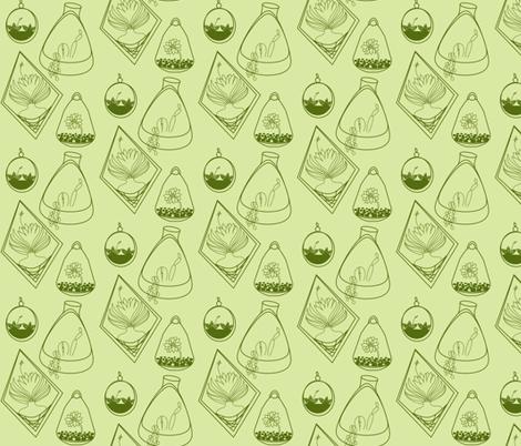 green day succulants  fabric by luluhoo on Spoonflower - custom fabric