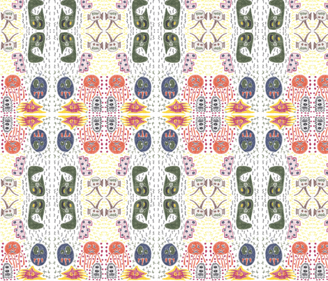 Monsters in Space fabric by sha_stokes on Spoonflower - custom fabric
