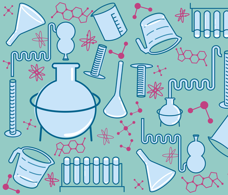 science lab fabric by annaboo on Spoonflower - custom fabric