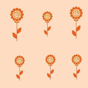 Tangerine Sunflowers