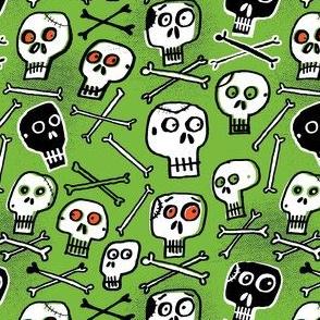 Skulls (green)