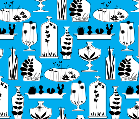 Growing Retro fabric by katerhees on Spoonflower - custom fabric