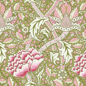 William Morris Windrush Green Pink
