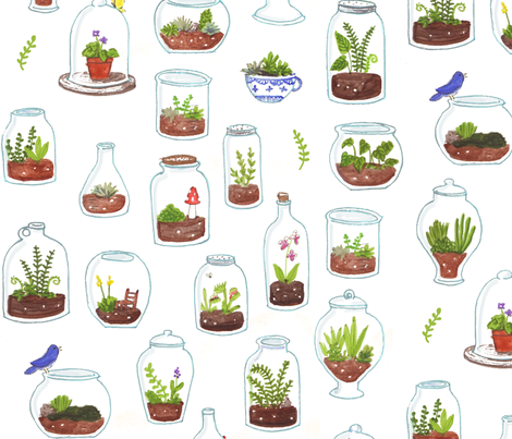 100 Tiny Gardens fabric by jenimp on Spoonflower - custom fabric