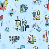 Kitchen Utensils (blue)