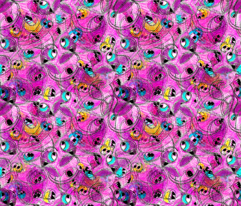 Not Every Monster is Ugly (intense) fabric by anniedeb on Spoonflower - custom fabric