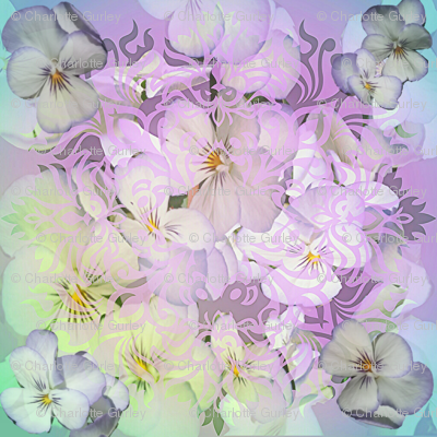 Pansies In Pastels