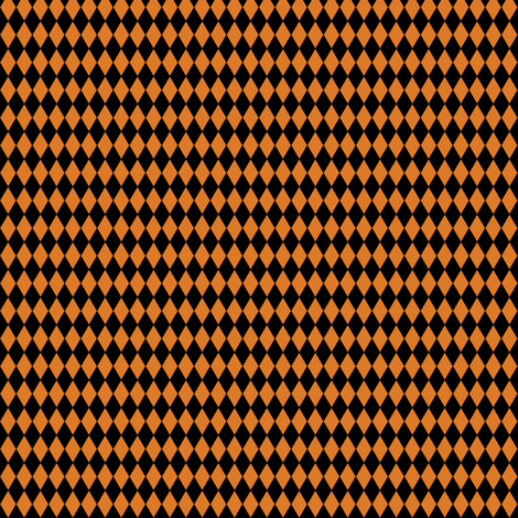 Harlequin Diamonds ~ Black And Pumpkin Spice ~ Tiny fabric by peacoquettedesigns on Spoonflower - custom fabric