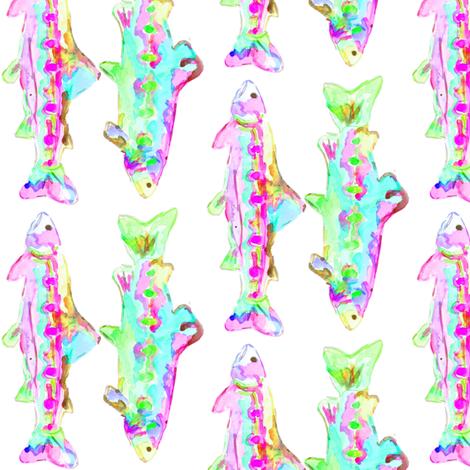 trout in purple fabric by erinanne on Spoonflower - custom fabric