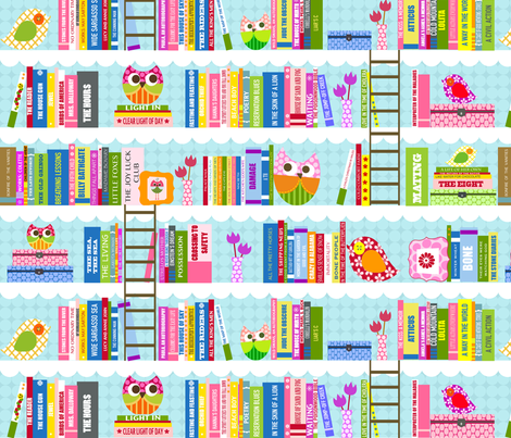 Library - Nancy fabric by natitys on Spoonflower - custom fabric