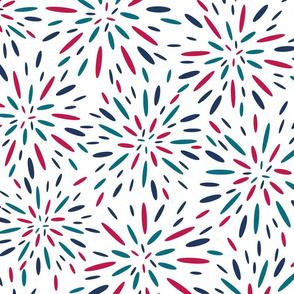 Starburst, Navy + Raspberry