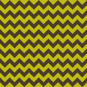 Tiger Zigzag - Olive/Brown