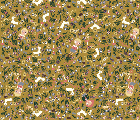 Heidi Braids (mustard) fabric by heidikenney on Spoonflower - custom fabric