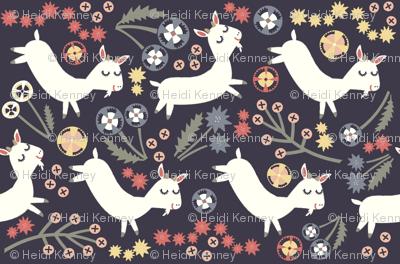 Goats Frolic (navy)