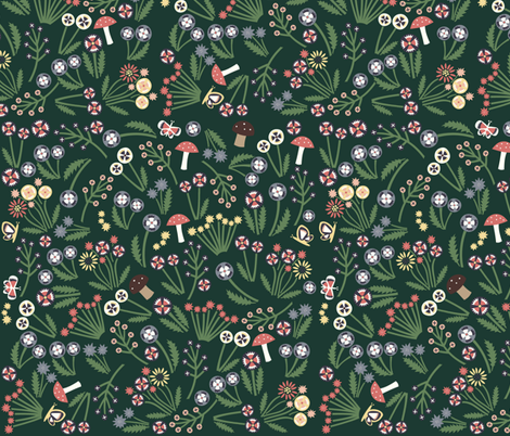 Heidi Flowers fabric by heidikenney on Spoonflower - custom fabric