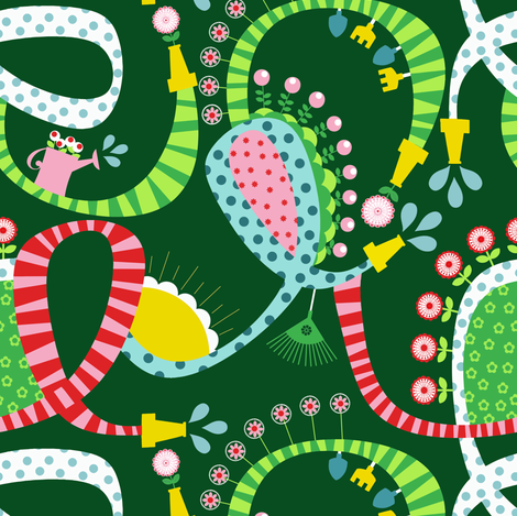 Whimsy Garden Green