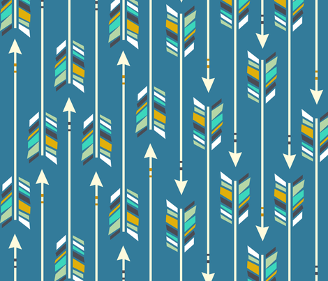 Large Arrows: little boy blue fabric by nadiahassan on Spoonflower - custom fabric