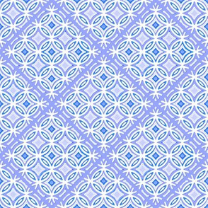Lattice in periwinkle