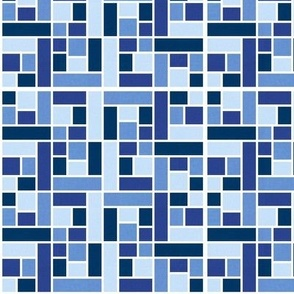 Mosaic Tiles in Blue