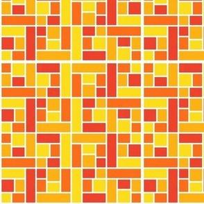 Mosaic Tiles in Orange
