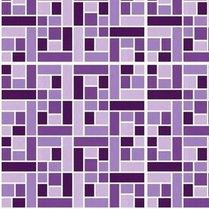 Mosaic Tiles in Eggplant