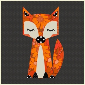 Sunny fox gray spotty cushion panel