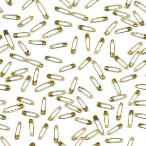 gold safety pins