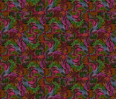 Ruffled Creature fabric by graceful on Spoonflower - custom fabric