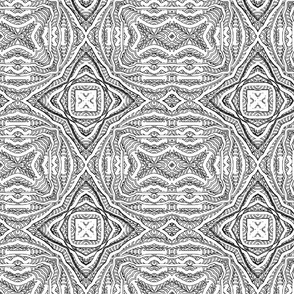 abstract_black_and_white_TILE_four_point_star