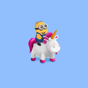 Minion Riding Unicorn - Blue