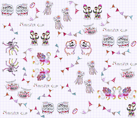 MONSTER_CUP fabric by sarah_s_ on Spoonflower - custom fabric