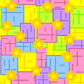 Multicolored seamless wallpaper.