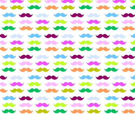 Mustache Candy fabric by drapestudio on Spoonflower - custom fabric