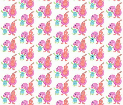 Crayon Monsters by ZoeyHeart fabric by zoeyheart on Spoonflower - custom fabric