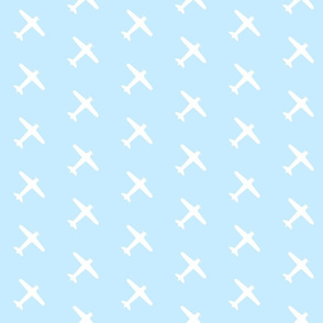Light Blue Airplane